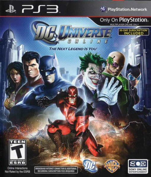 Hra DC Universe Online pro PS3 Playstation 3 konzole