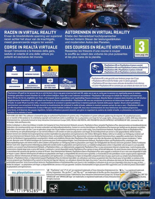 Hra DriveClub VR pro PS4 Playstation 4 konzole
