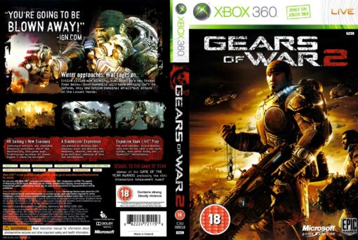 Hra Gears Of War 2 (kód ke stažení) pro XBOX 360 X360 konzole