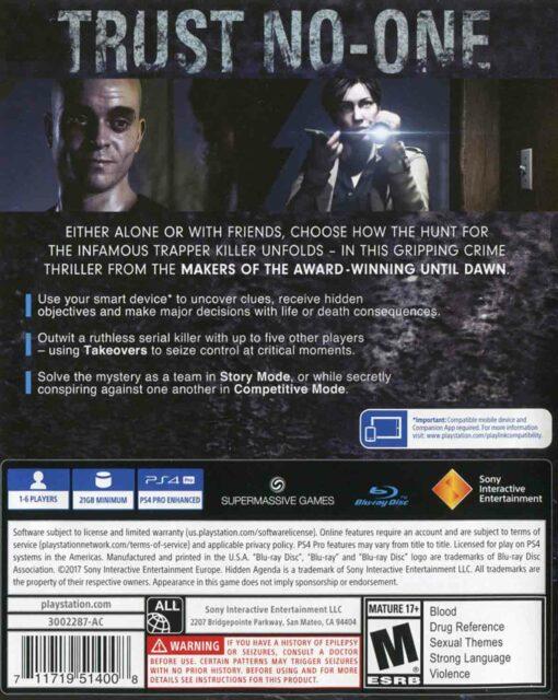 Hra Hidden Agenda pro PS4 Playstation 4 konzole