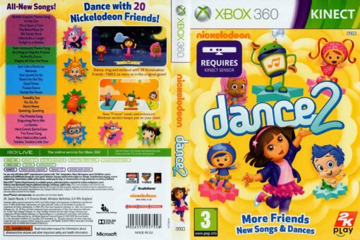 Hra Nickelodeon Dance 2 pro XBOX 360 X360 konzole