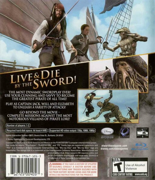 Hra Pirates Of The Caribbean: At Worlds End pro PS3 Playstation 3 konzole