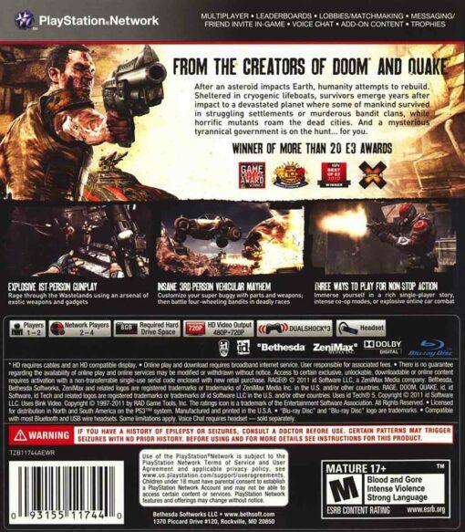Hra Rage pro PS3 Playstation 3 konzole